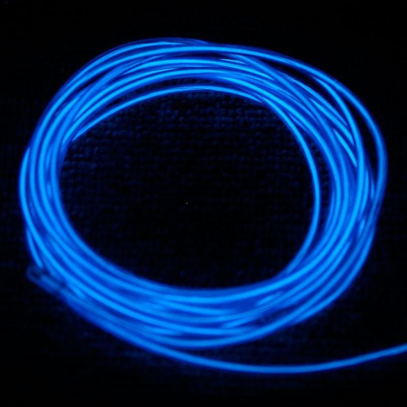tube n on lumineux bleu 3 m tres flexible et portable. Black Bedroom Furniture Sets. Home Design Ideas