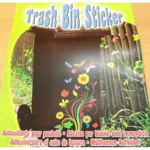 Sticker géant papillons et fleurs autocollant pour poubelle