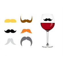 Marque-verres moustache