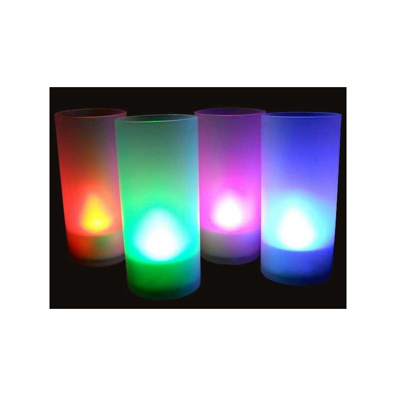 Bougie photophore led a souffler couleur changeante multicolore - Led couleur changeante ...