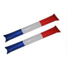 Bâtonnets gonflables bleu, blanc et rouge pour applaudir (lot de 2)