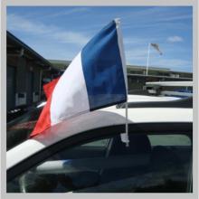 Drapeaux français bleu, blanc et rouge pour voiture