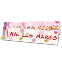 """Bannière """"Vive les mariés"""" de 2,44 mètres"""