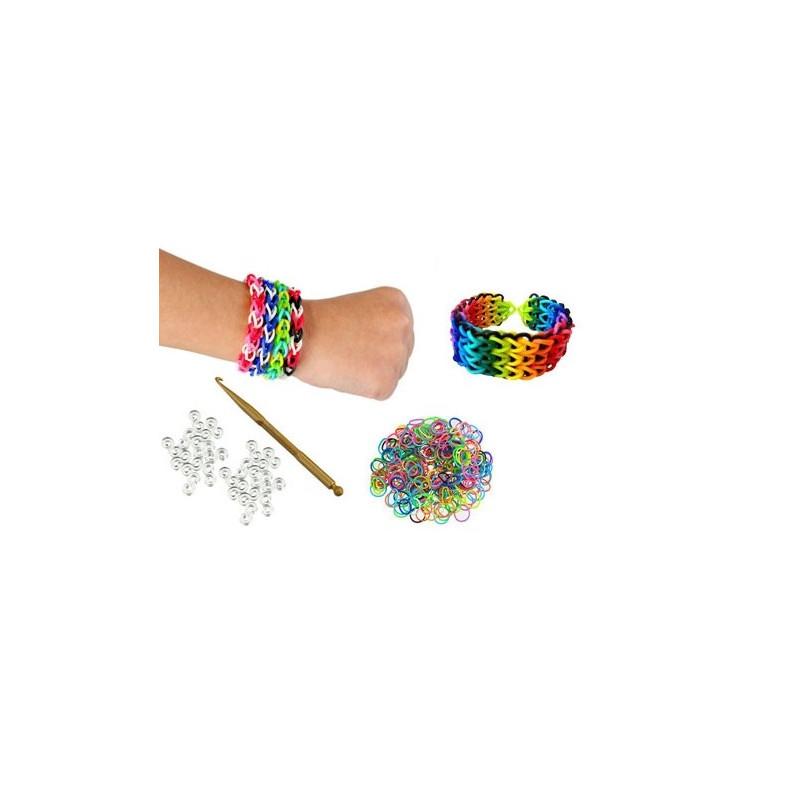 kit cr ation loom bands 600 pi ces pour faire des bracelets lastiques ebay. Black Bedroom Furniture Sets. Home Design Ideas
