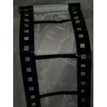 Chemin de table cinéma en organza blanc