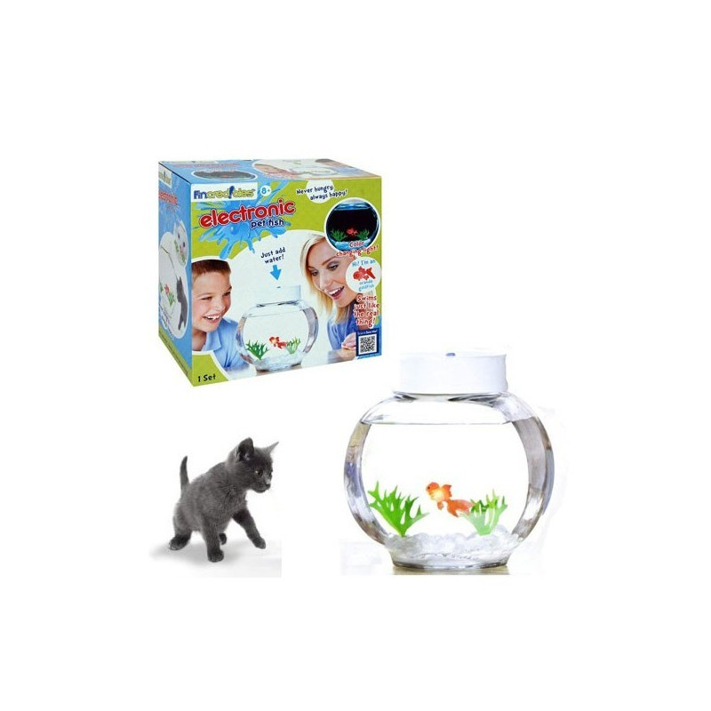 Aquarium lectronique avec un poisson rouge for Faux poisson rouge
