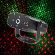 Laser multipoint avec motifs verts et rouges