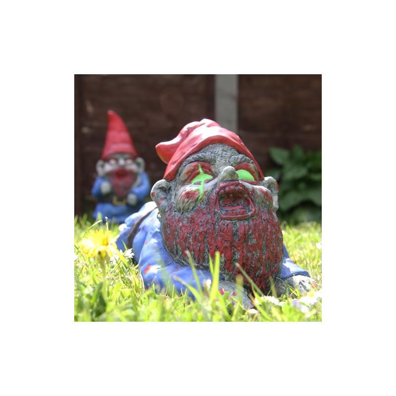 Nain de jardin zombi rampant - Nain de jardin voyageur ...