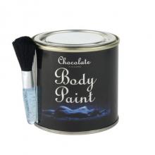 Pot de peinture comestible au chocolat avec pinceau