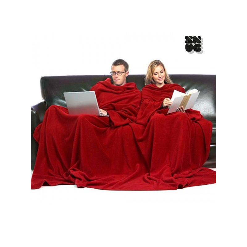 couverture double avec manches pour deux personnes et poche snug snug. Black Bedroom Furniture Sets. Home Design Ideas