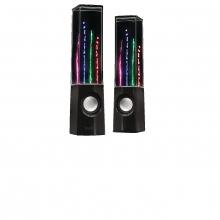 Haut-parleurs fontaine : deux enceintes à jets d'eau
