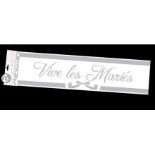 """Bannière argentée """"Vive les mariés"""" de 2,44 mètres"""