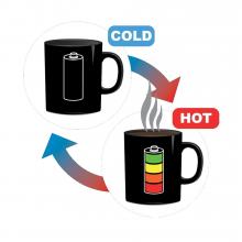 Mug batterie : la batterie se remplie en fonction de la température