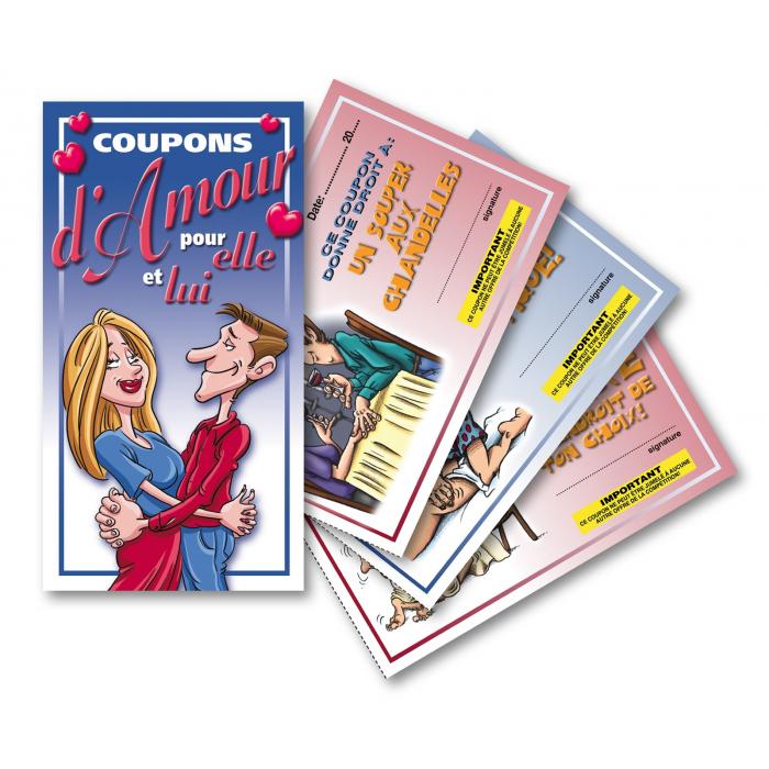 Exemple de coupons d'amour