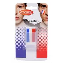 Maquillage bleu, blanc et rouge allez la France