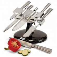 Porte-couteau Star Wars X-Wing avec 5 couteaux en acier inoxydable