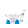 Support brosse à dents et dentifrice avec sablier intégré pour enfants