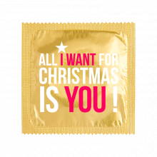 Préservatif humoristique ALL I WANT FOR CHRISTMAS IS YOU