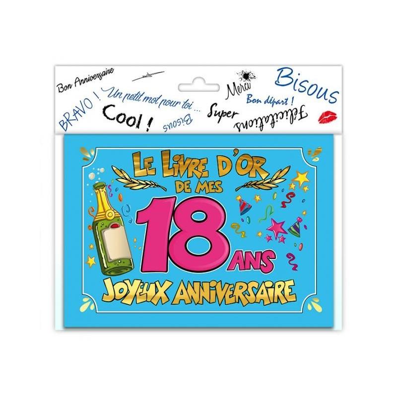 Livre d 39 or sp cial anniversaire 18 ans - Cadeau d anniversaire 18 ans ...