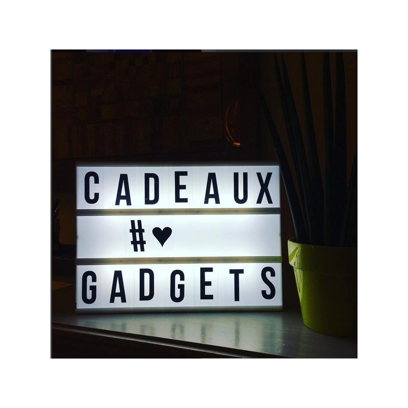 lightbox tableau lumineux messages. Black Bedroom Furniture Sets. Home Design Ideas