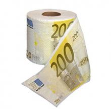 Rouleau de papier toilette billets de 200 euros