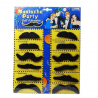 Lot de 12 fausses moustaches adhésives vue de dessus