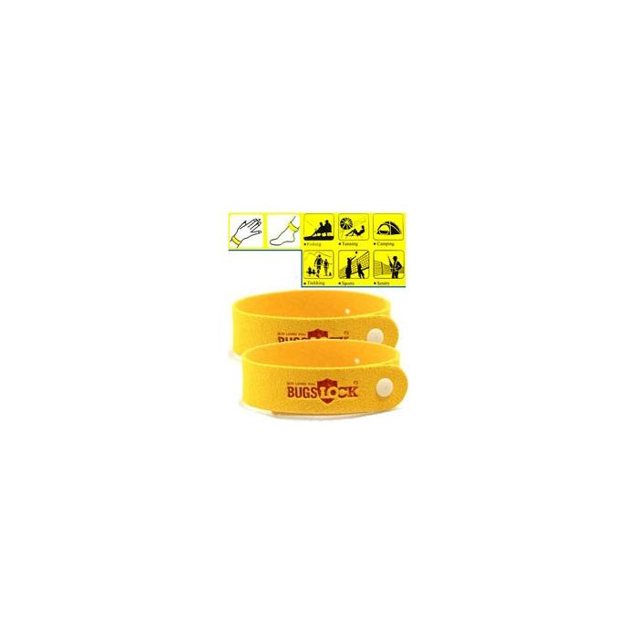 Bracelet anti moustique jaune