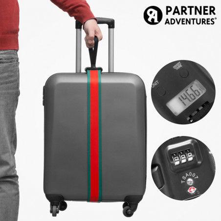 Sangle pour Valises avec Balance et Code de Sécurité Partner Adventures