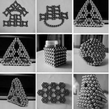 Cube magnétique 3mm 216 billes