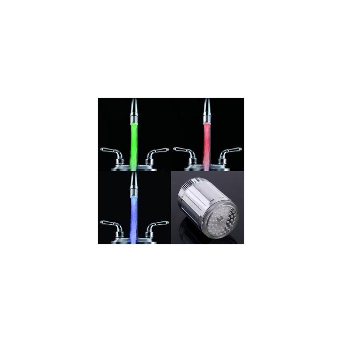 Robinet lumineux à capteur de température