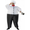 Costume gonflable chef cuisinier
