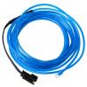 Tube néon lumineux bleu 3 mètres flexible et portable