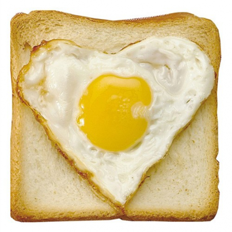 Emporte-pièce oeuf sur le plat en forme de coeur