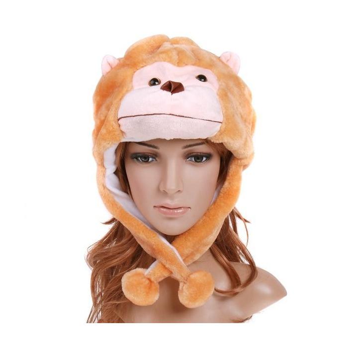 Chapeau humoristique en forme de singe