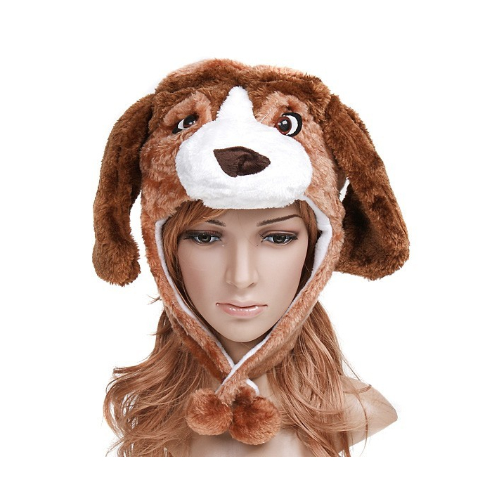 Chapeau humoristique en forme de chien