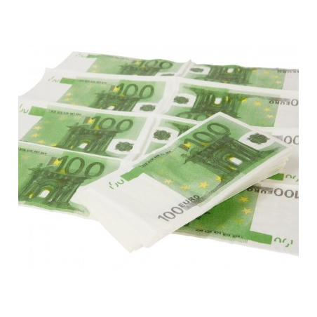 Serviettes billets en euro