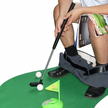 Mini-golf pour toilettes