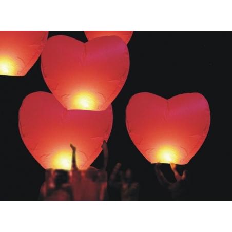 Lanterne volante lampion en forme de coeur 85 cm