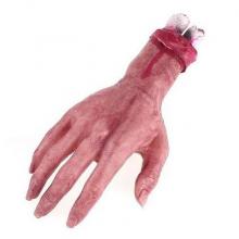 Main coupée factice sanguinolente