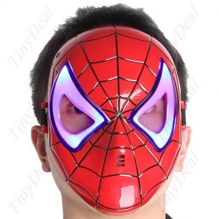 Masque homme araignée avec les yeux lumineux