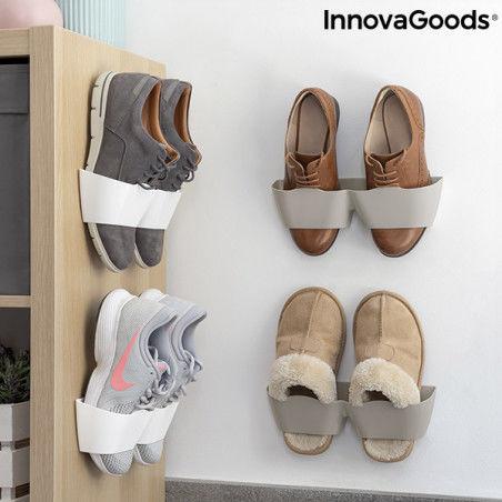 Meubles à chaussures avec adhésifs Shöelf InnovaGoods (4 Paires)