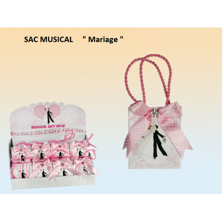 Boite à musique sac musical pour mariage