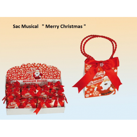 "Boite à musique ""Merry Christmas"" sac musical de noël"