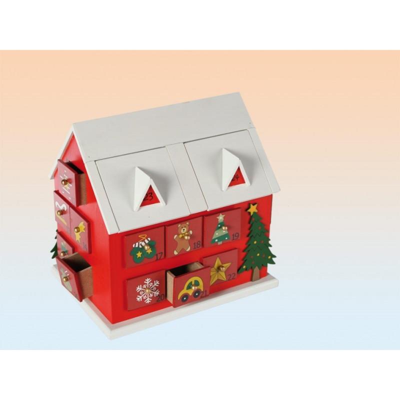 calendrier de l 39 avent en bois chalet cadeaux gadgets. Black Bedroom Furniture Sets. Home Design Ideas