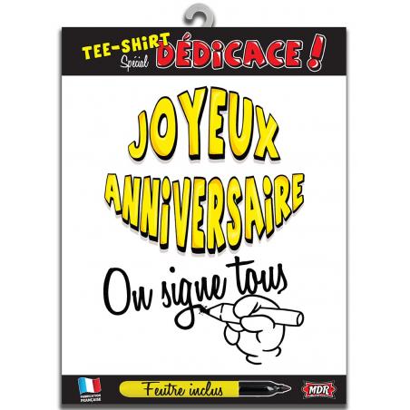 Tee shirt d'anniversaire spécial dédicace