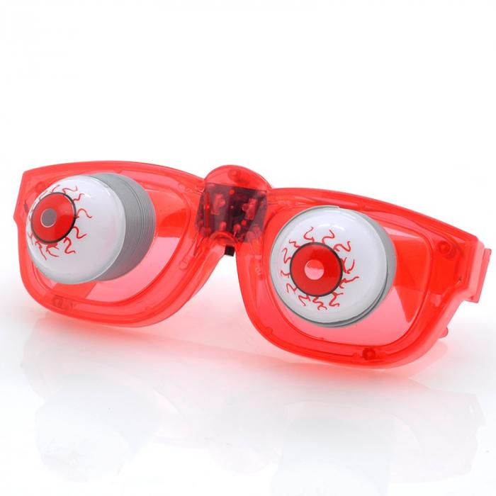 Lunettes à LED avec des yeux ressorts