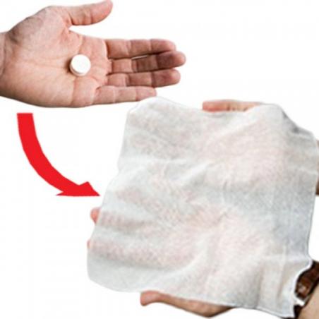 Cachets magiques : serviette en papier jetable (lot de 50)