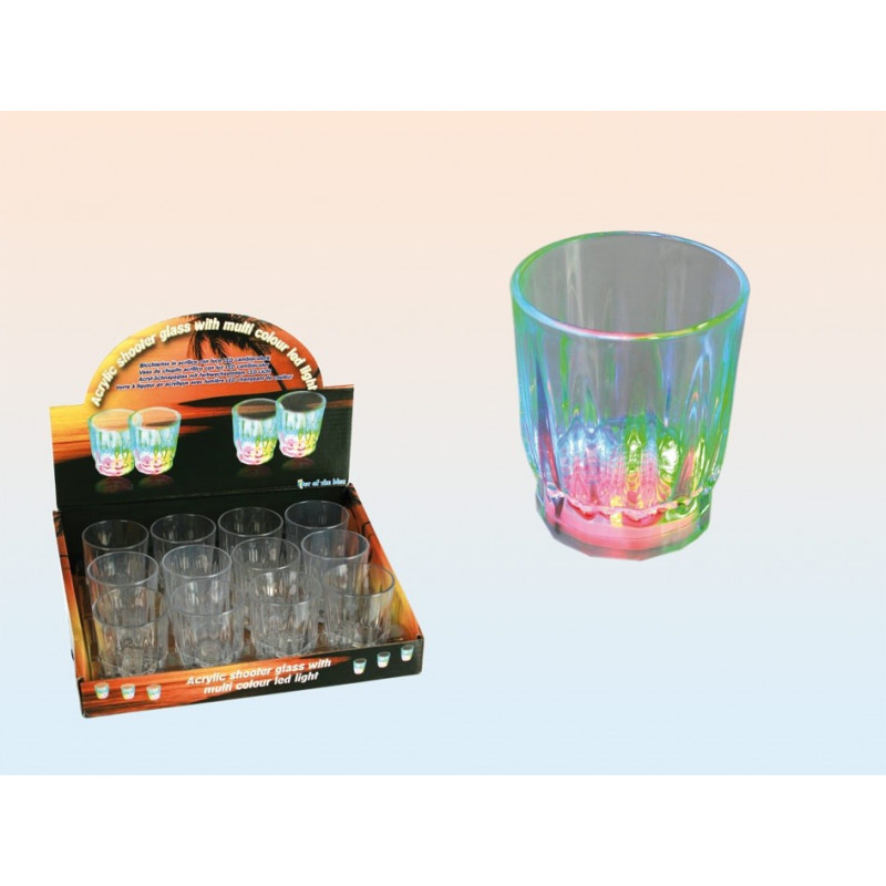 verre liqueur shooter 3 leds clignotantes. Black Bedroom Furniture Sets. Home Design Ideas