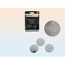 Lot de 3 piles bouton lithium 3V CR2032 reflexx