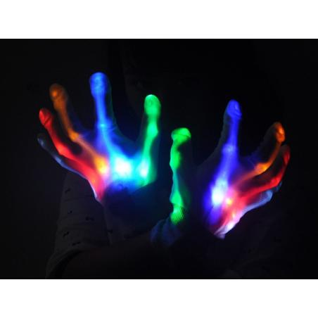 Gants lumineux multicolores